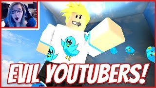 getlinkyoutube.com-ROBLOX ESCAPE THE EVIL YOUTUBERS   LOOK MOM I'M IN AN OBBY!