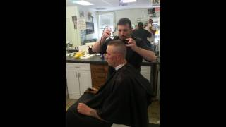 getlinkyoutube.com-Ponytail cut into a flattop!!