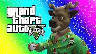 getlinkyoutube.com-GTA 5 Funny Moments - Snowball Fights, Snowmen, Delivering Presents! (Christmas Edition)