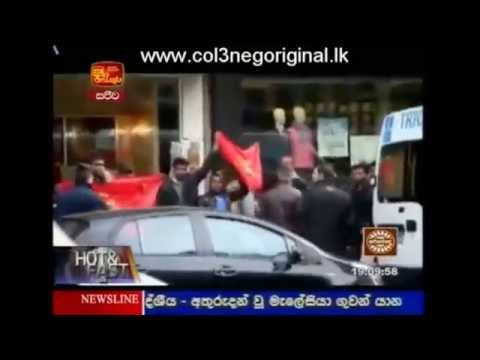 ITN news 23/03/2014: Srilankan defended by french police during LTTE's attack in paris