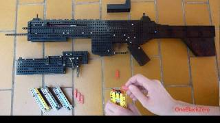 getlinkyoutube.com-Lego FN Scar-h with attachments + m203 Instruction