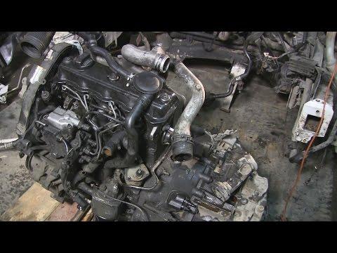 1.9 turbo diesel снятие двигателя часть 3
