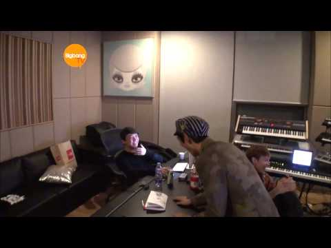 T.O.P. Recording With G-Dragon Teddy and Kush! [HD] [ENG]