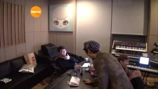 getlinkyoutube.com-T.O.P. Recording With G-Dragon Teddy and Kush! [HD] [ENG]