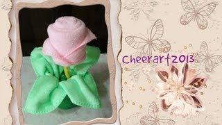 getlinkyoutube.com-DIY-毛巾玫瑰Towel rose