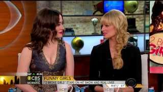 getlinkyoutube.com-Kat Dennings & Beth Behrs - cute and funny interview - Feb 24, 2014