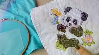 getlinkyoutube.com-Вышивка крестиком на платье🔸О прикладной вышивке для детей