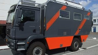 4WD MAN 18.290 Overland camper vehicle: EXTERIOR design, systems & equipment