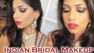 getlinkyoutube.com-Indian Wedding Makeup Tutorial!
