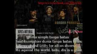 Bondan Prakoso & Fade 2 Black Respect & Unity For All