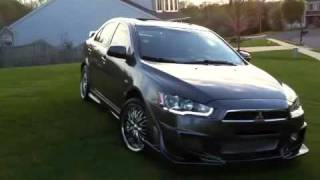 getlinkyoutube.com-2008 Mitsubishi Lancer, Body Kit, Rims, Speaker, & LED Light Strip.