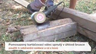 getlinkyoutube.com-Kartáčování, drásání dřeva - válcové kartáče SIT