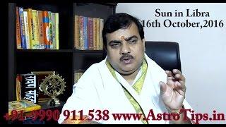 getlinkyoutube.com-Sun in Libra:सूर्य तुला राशि में : 17 October,2016 - Rashifal in Hindi by pt Deepak Dubey
