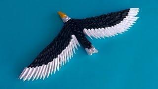getlinkyoutube.com-3D origami eagle (hawk) assembly diagram (tutorial, instructions)