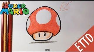 getlinkyoutube.com-How to Draw Super Mario Bros. Mushroom - Easy Things To Draw