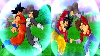 getlinkyoutube.com-Fusion Vegetto SSGSS VS Fusion Gogeta SSJ4 mod Historia Dragon Ball Tenkaichi 3