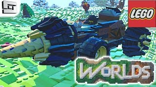 getlinkyoutube.com-LEGO WORLDS - DRILLING MACHINE!  Alpha Gameplay
