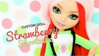 getlinkyoutube.com-Custom Doll: Ever After High Strawberry Shortcake - Doll Crafts