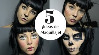5 MAQUILLAJES FÁCILES PARA HALLOWEEN - 5 EASY MAKEUP IDEAS
