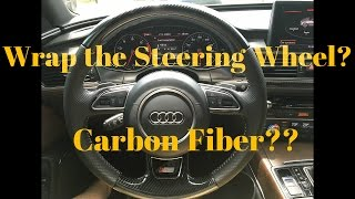 getlinkyoutube.com-How to Wrap Steering Wheel in 5D Carbon Fiber Vinyl Pt. 1: Tuner Gallery