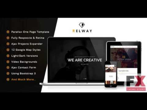 Preview Relway - Responsive Parallax One Page Template TFore