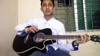 getlinkyoutube.com-Gajar Nouka Pahartoli Jay guitar lesson by Sabuj
