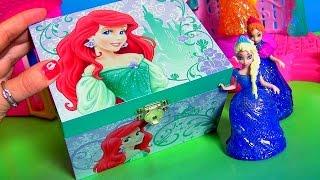 getlinkyoutube.com-Princesa Ariel Caixinha de Música Surpresa Disney A Pequena Sereia com Elsa Frozen em Portugues BR