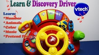 getlinkyoutube.com-Vtech Learn and Discover Driver Teach Number Animals Pretend Play, Colors, Music