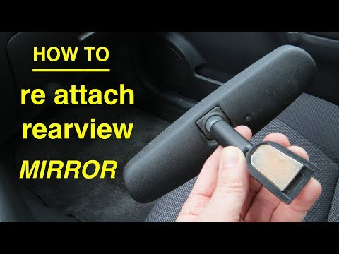 How to? ReGlue and ReAttach your Rearview Mirror