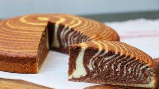 getlinkyoutube.com-Recette du super Cake zébré moelleux et facile (ou gâteau marbré zébré)