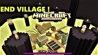 getlinkyoutube.com-MCPE 1.0 - CRAZY END VILLAGE WITH 3 DRAGONS ! | MAP 0.17.0