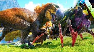 getlinkyoutube.com-Ark Survival Evolved - DodoRex VS Broodmother, Fear Evolved, Dino Costumes, Pumpkins Gameplay