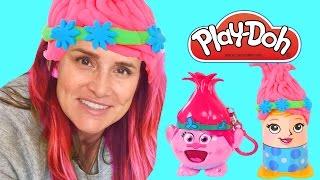 getlinkyoutube.com-TROLLS Radz and Play Doh Crazy Cuts Poppy Makeover   Dreamworks Movies