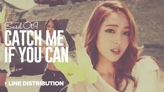 getlinkyoutube.com-SNSD - Catch me if you can : Line Distribution (OT9 VERSION | Color Coded)