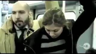 getlinkyoutube.com-تحرش بفتاة في قطار ...النتيجة ههههههه