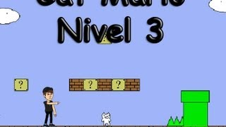 getlinkyoutube.com-Gato Bros/Cat Mario Nivel 3