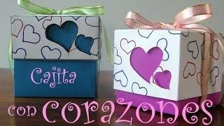 getlinkyoutube.com-Manualidades para regalar - Cajita con corazones - Manualidades para todos
