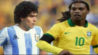 Maradona Vs Ronaldinho ● Goals & Skills