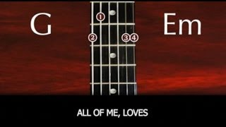getlinkyoutube.com-Learn to play All Of Me by John Legend - SLOW VERSION with chords and lyrics