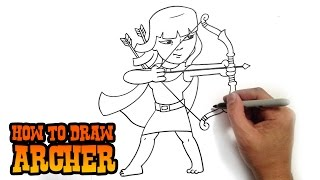 getlinkyoutube.com-How to Draw Archer | Clash of Clans
