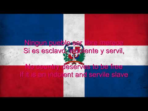 Dominican Republic National Anthem English lyrics