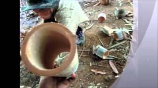 getlinkyoutube.com-ไผ่แม่ตะวอ 3 สาธิตการทำตะเกียบไม้เสียบลูกชิ้น