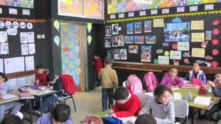 طلاب الصف الاول أ في مدرسة المشهد ب