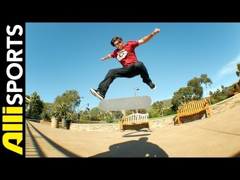 Kelly Hart's Skateboard Step By Step on Fakie 360 Flips, Alli Sports