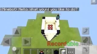 getlinkyoutube.com-Como utilizar o minebot ( minecraft pe )