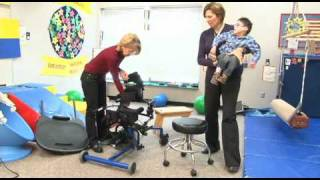 getlinkyoutube.com-Chayton, Cerebral Palsy, fitted in Standing Frame