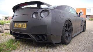 getlinkyoutube.com-1400HP Nissan GT-R JM1400R - Start, Revs, Flames, Accelerations!