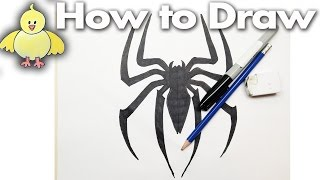getlinkyoutube.com-How to Draw the Spiderman Logo - Drawing Tutorial - Step by Step