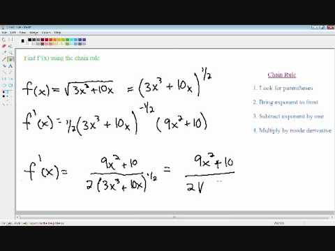 Chain rule - Derivatives - Calculus