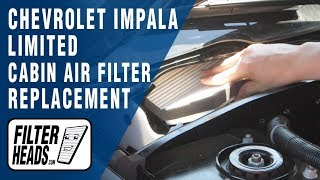 getlinkyoutube.com-Cabin air filter replacement - Chevrolet Impala Limited